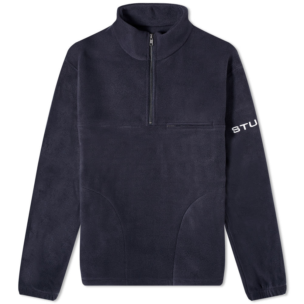 Photo: Stussy Half Zip Polar Mock Neck Fleece