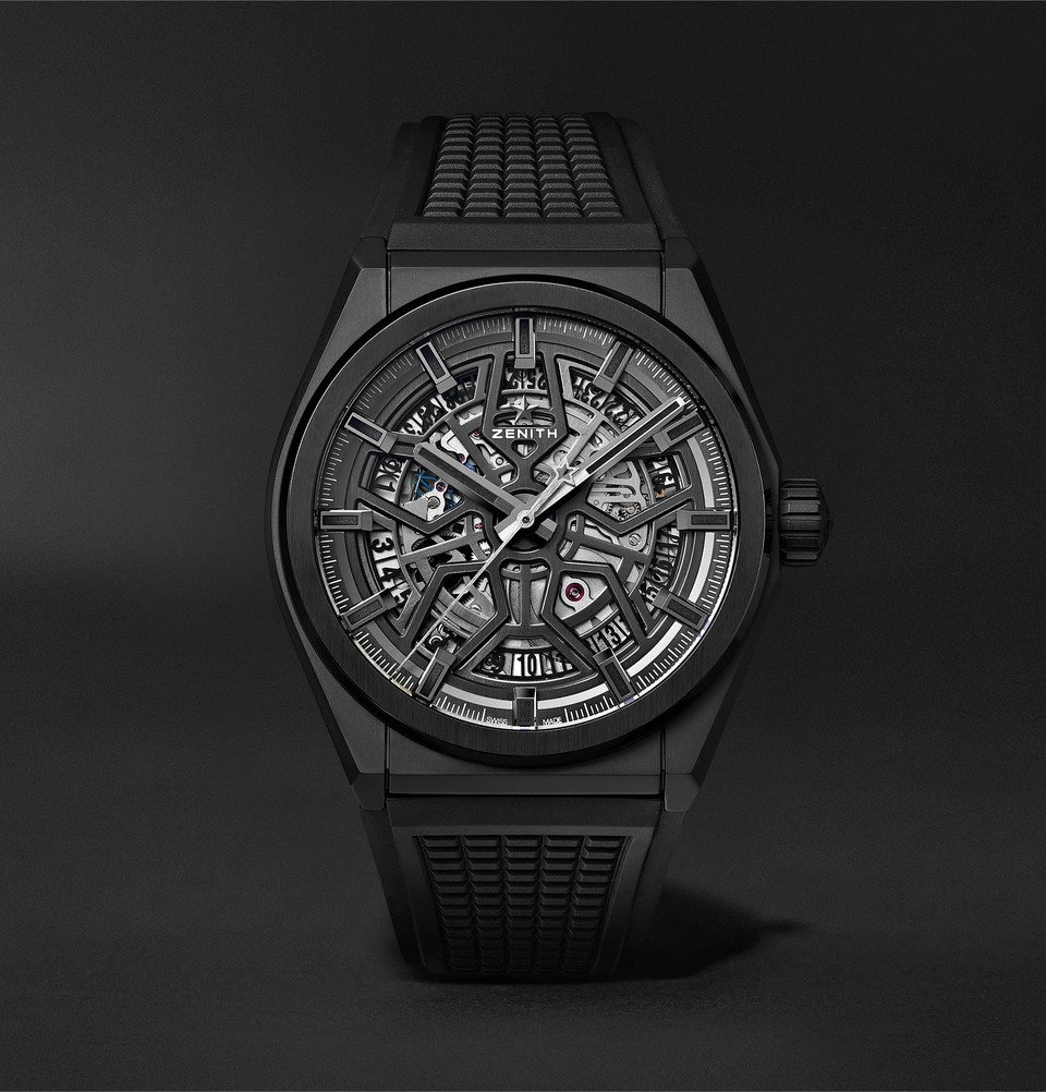 Photo: Zenith - Defy Classic Automatic 41mm Ceramic and Rubber Watch - Black