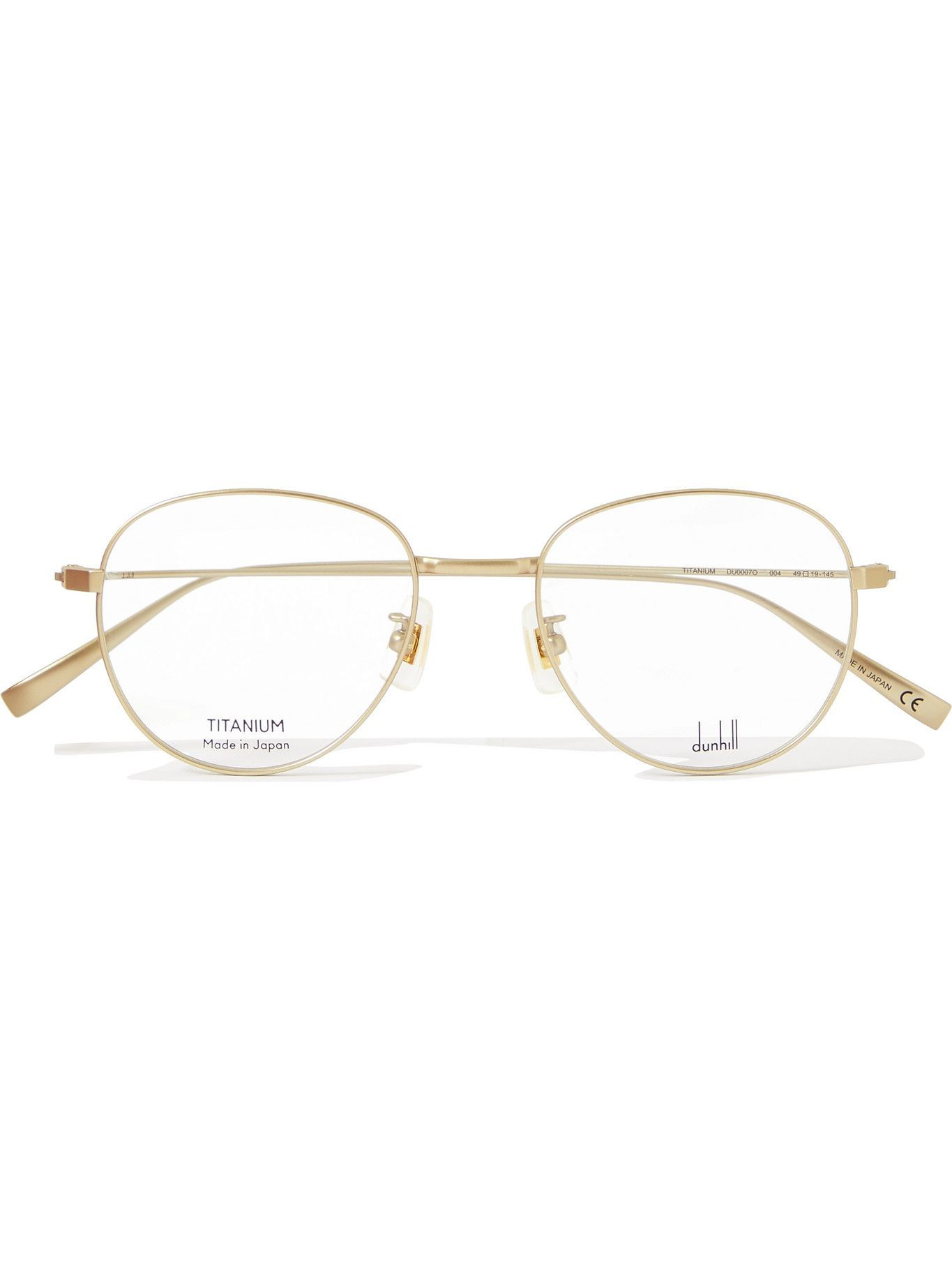DUNHILL - Round-Frame Gold-Tone Optical Glasses