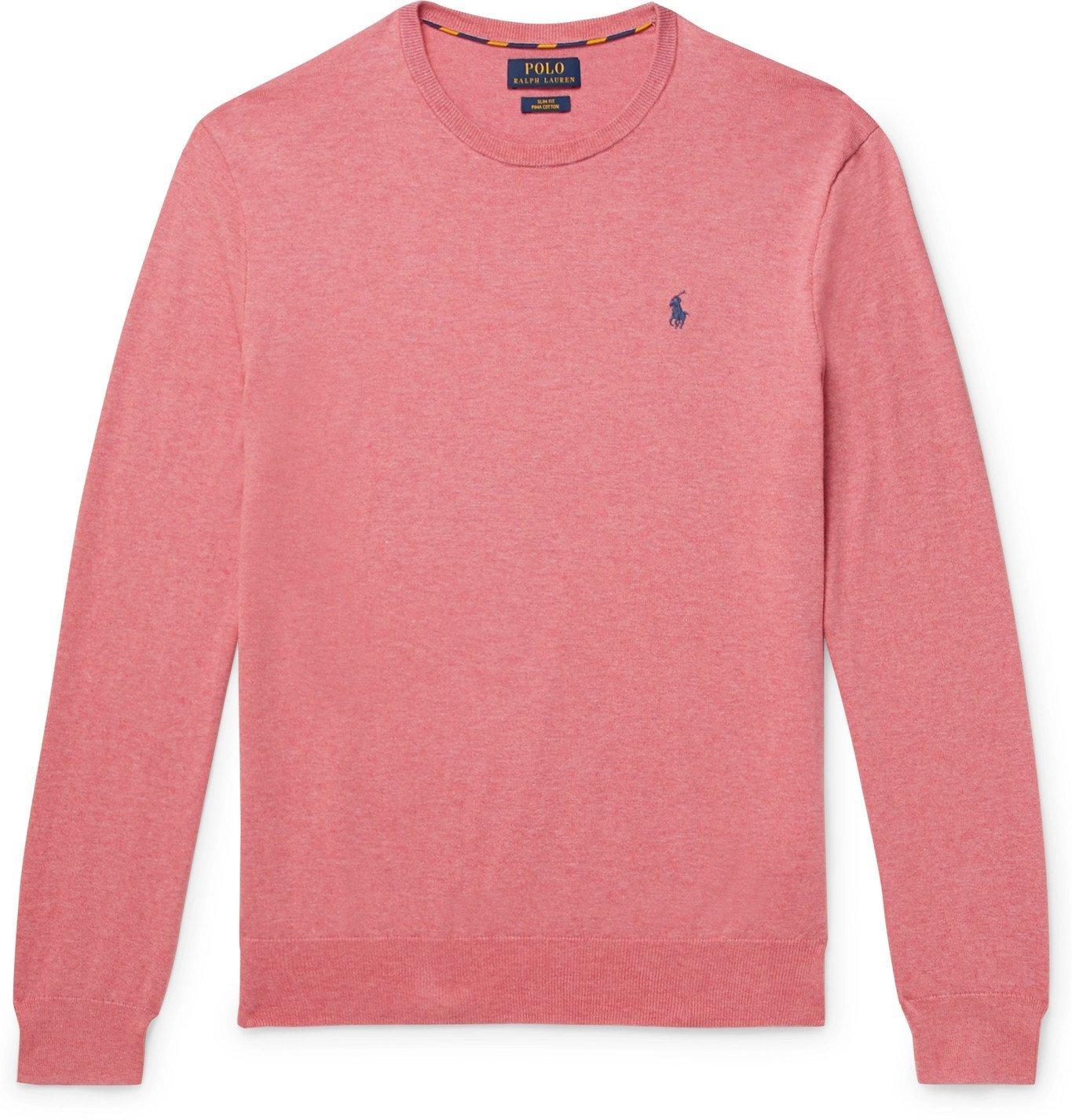 Photo: Polo Ralph Lauren - Slim-Fit Pima Cotton Sweater - Pink