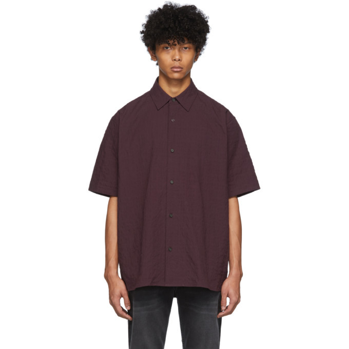 Photo: Acne Studios Burgundy Shepton Short Sleeve Shirt