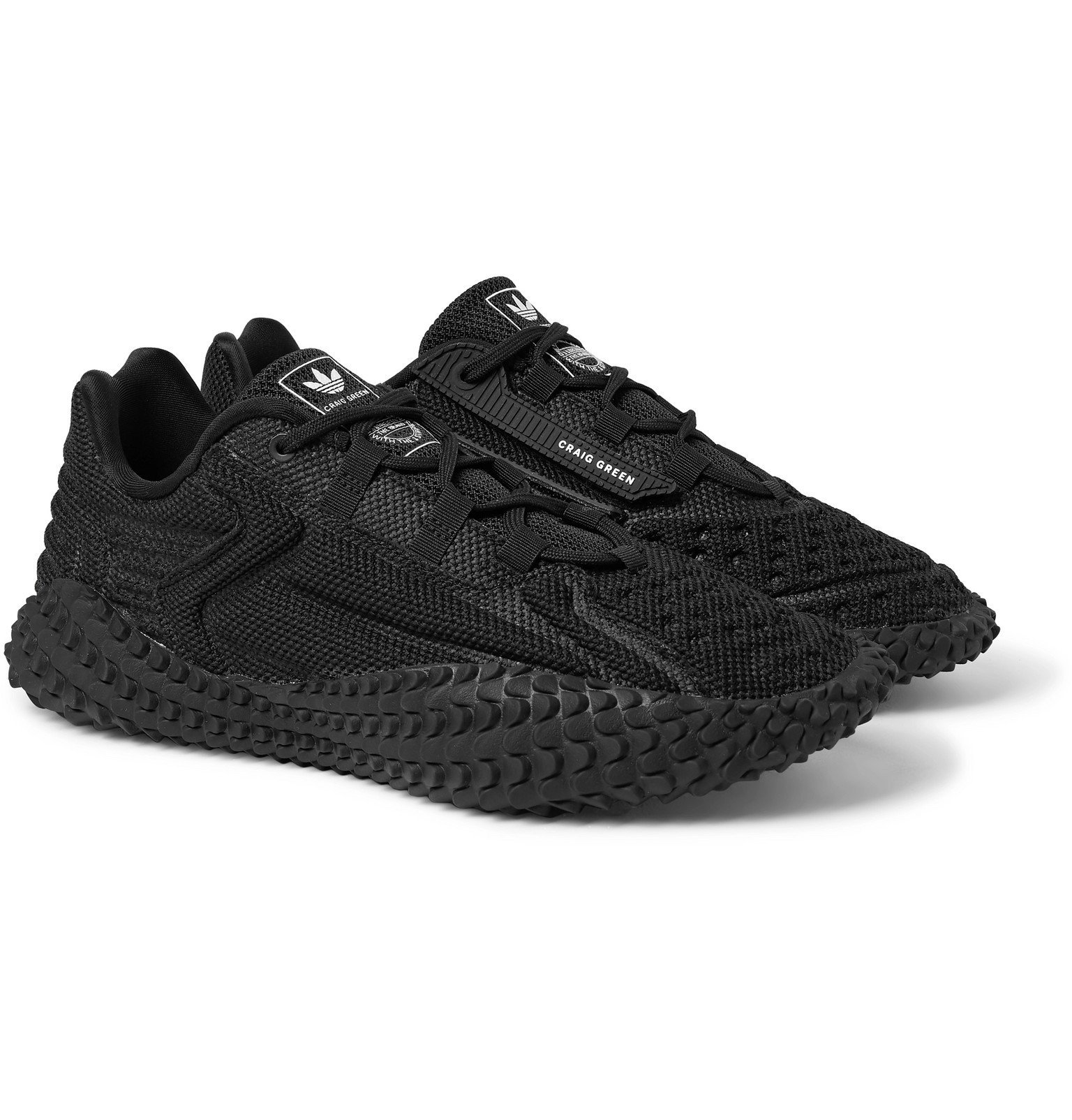 Photo: adidas Consortium - Craig Green Kontuur Kamanda I Rubber-Trimmed Mesh Sneakers - Black