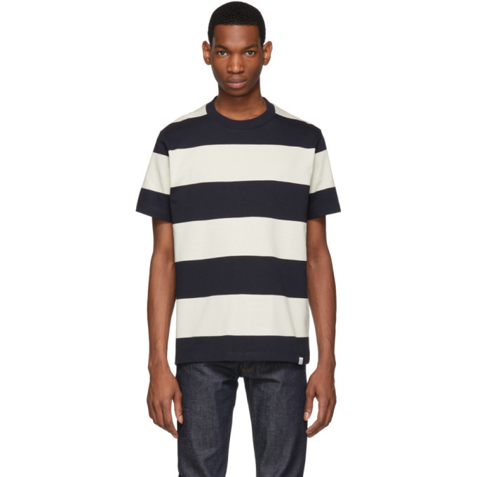 Photo: Norse Projects Navy Border Stripe Johannes T-Shirt