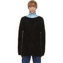 Raf Simons Black Transformer Cape Sweater