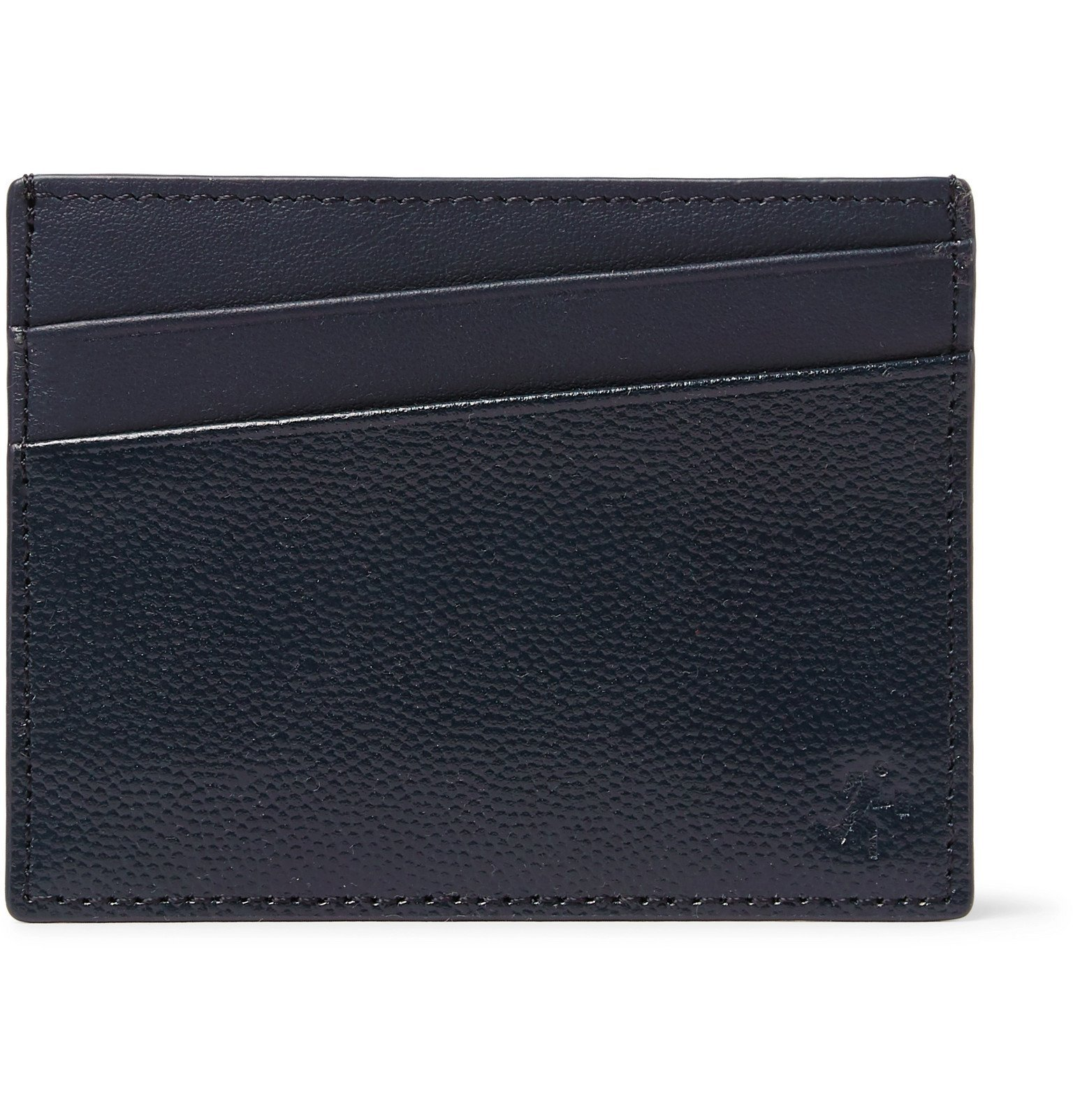 Photo: WANT LES ESSENTIELS - Branson Pebble-Grain Leather Cardholder - Blue