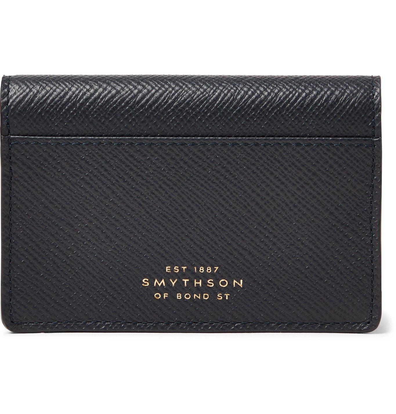 Smythson - Full-Grain Leather Bifold Cardholder - Blue