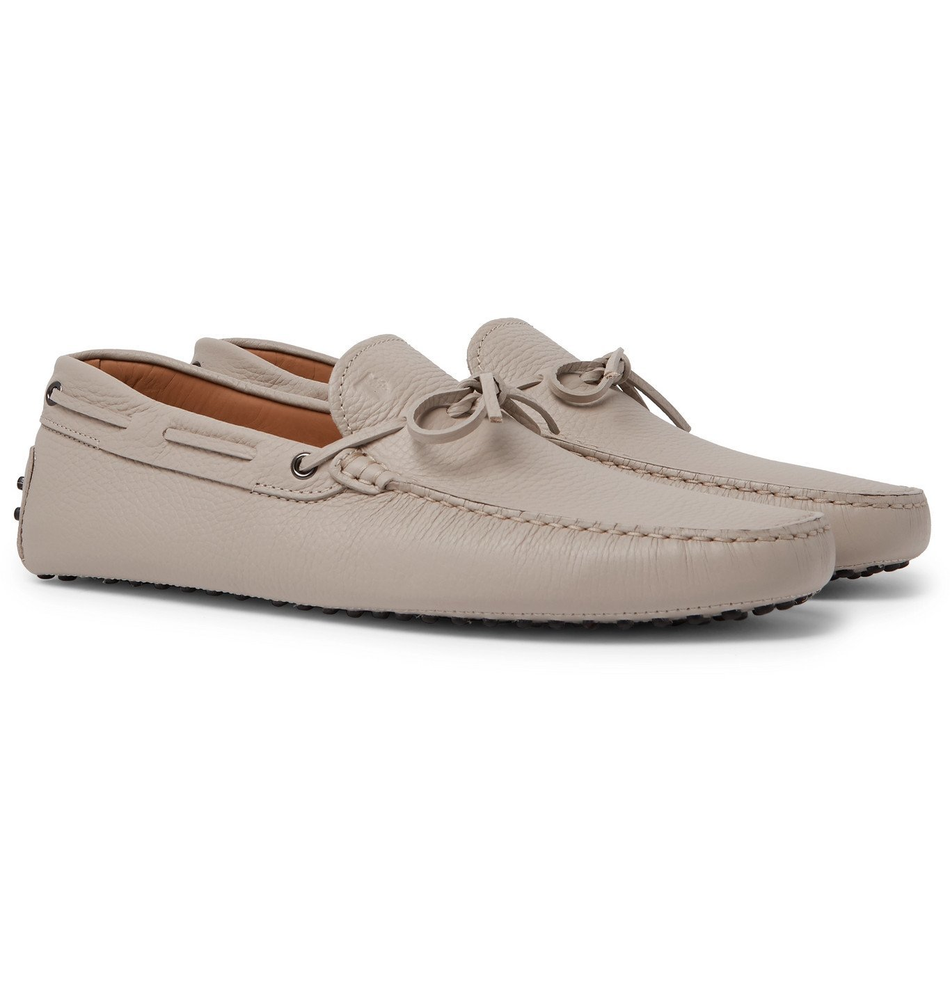 Photo: Tod's - Gommino Full-Grain Leather Driving Shoes - Neutrals