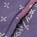 KAPITAL - Patchwork Bandana-Print Cotton-Jersey and Quilted Satin Hoodie - Purple