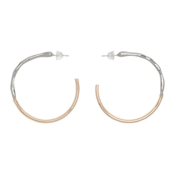 Photo: 1064 Studio Silver and Orange Shape Of Water 12E Earrings