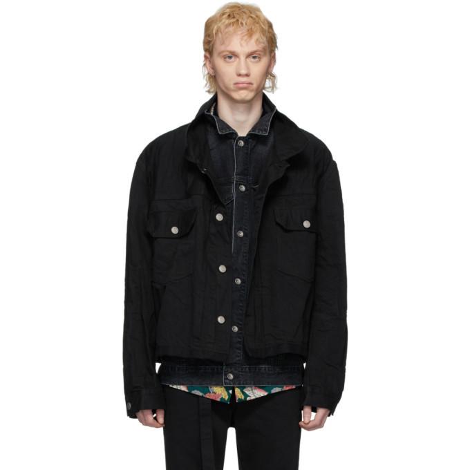 Photo: Sacai Black Denim Layered Jacket