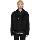 Sacai Black Denim Layered Jacket