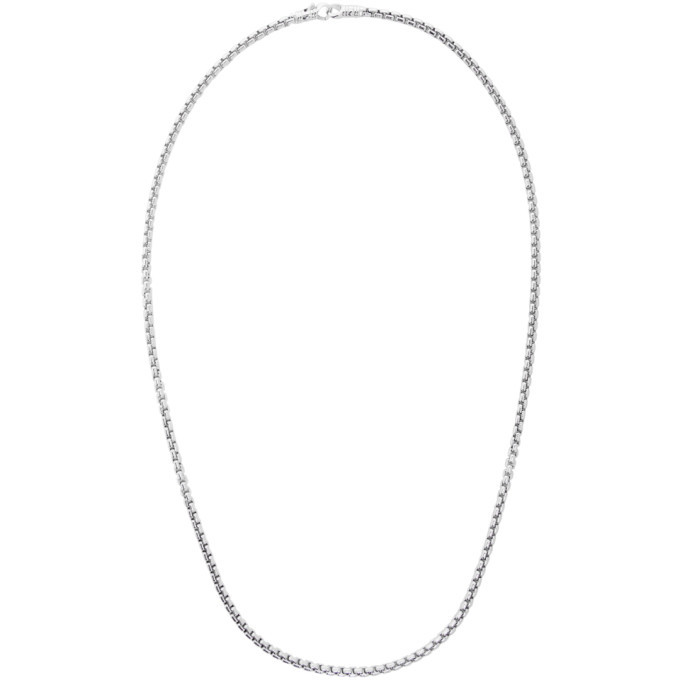 Photo: Tom Wood Silver Venetian Chain Single M Necklace