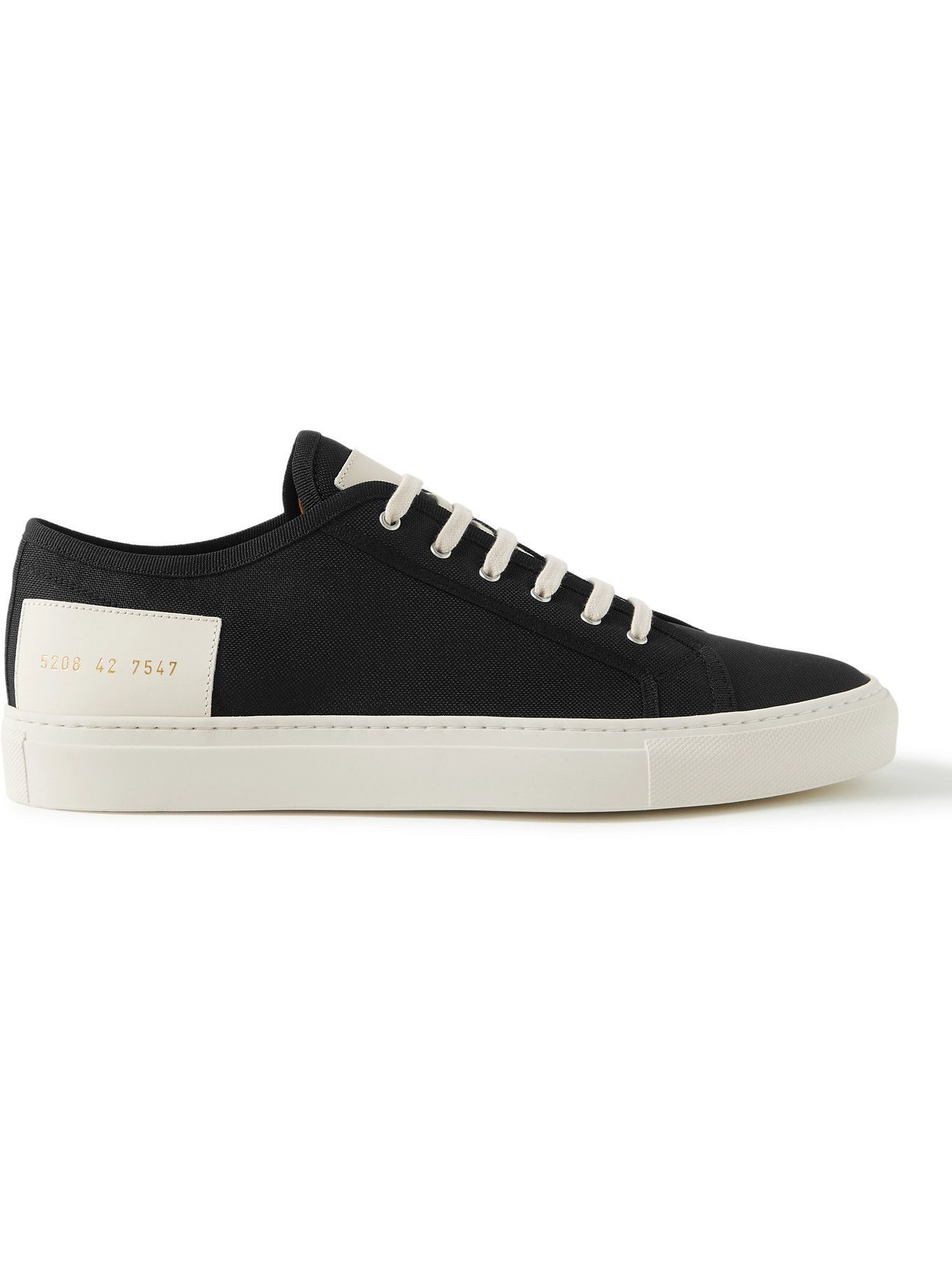 Photo: Common Projects - Tournament Low Leather-Trimmed Recycled Nylon Sneakers - Black