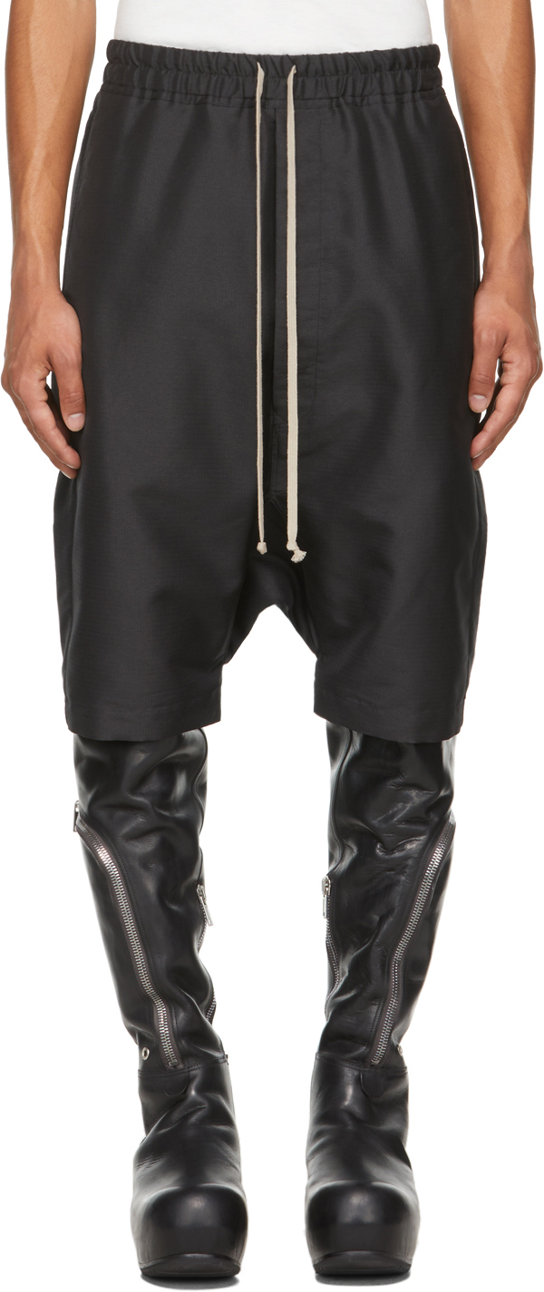Photo: Rick Owens Black Forever Rick's Pods Shorts