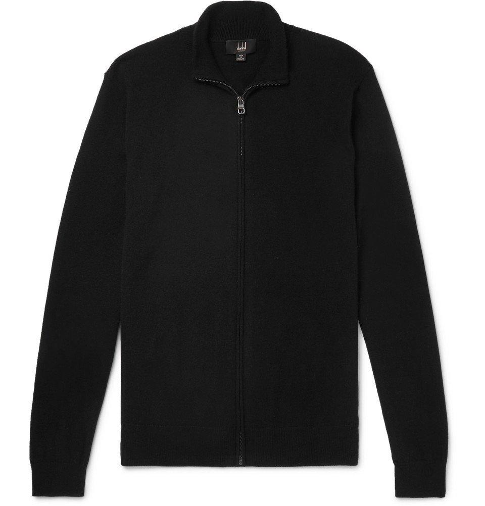 Dunhill - Cashmere Zip-Up Cardigan - Men - Black