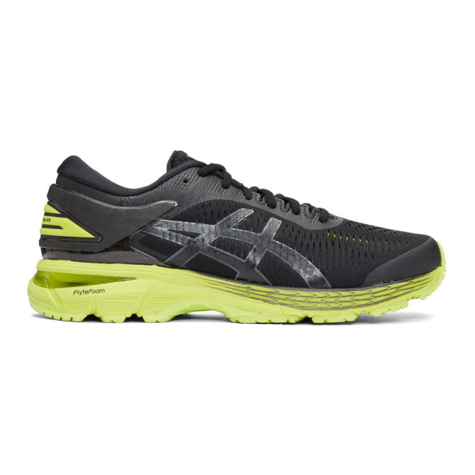 Photo: Asics Black and Green Gel-Kayano 25 Sneakers