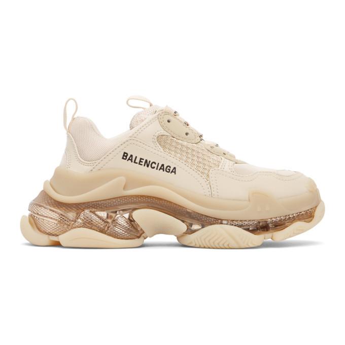 Photo: Balenciaga Brown Triple S Sneakers