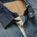 Sacai - Dr. Woo Embroidered Shell and Grosgrain-Trimmed Denim Shirt - Blue