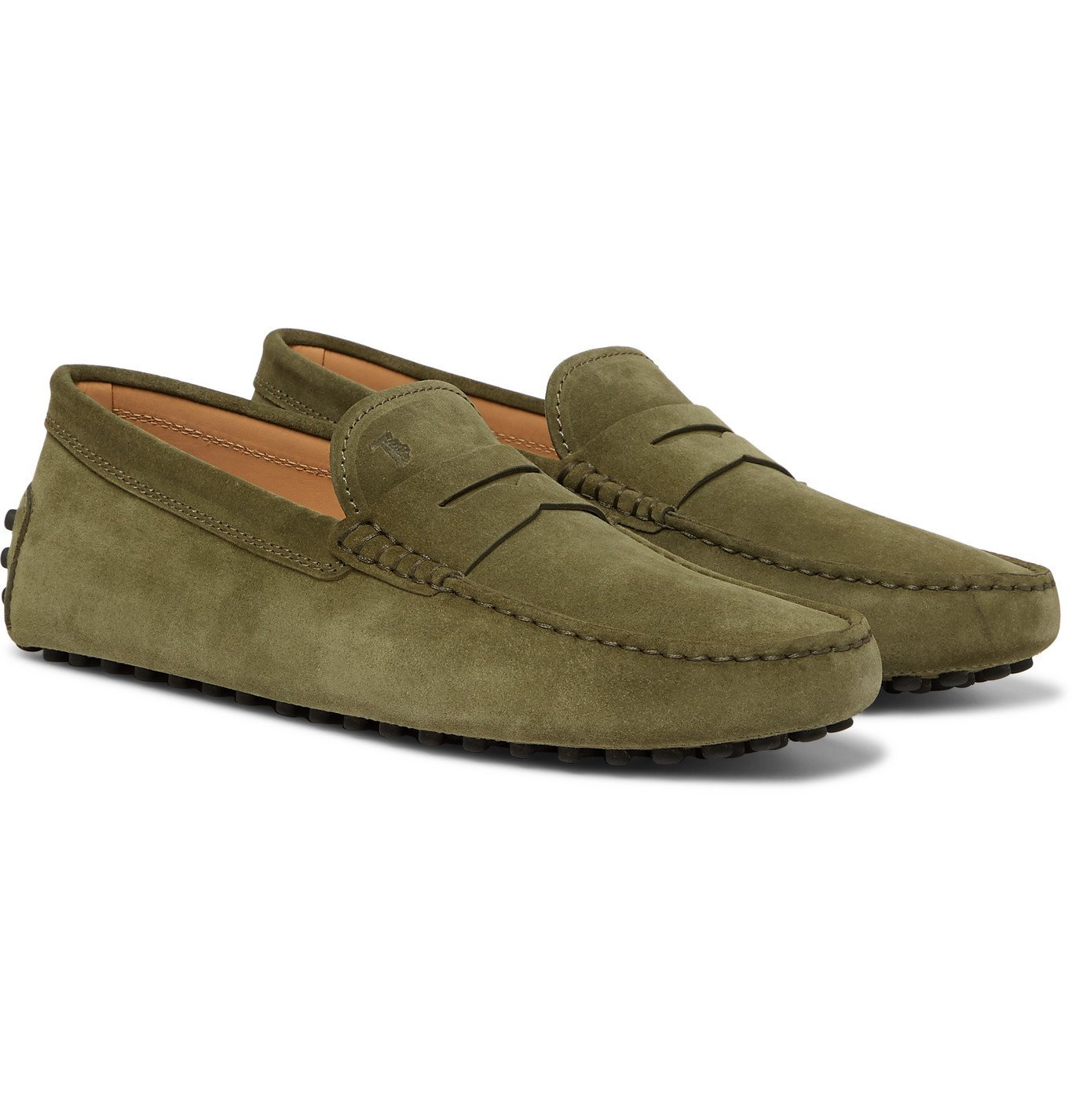 Photo: Tod's - Gommino Suede Driving Shoes - Green