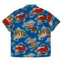 Kapital Silk/Rayon Pacific Atlantic Aloha Shirt Blue