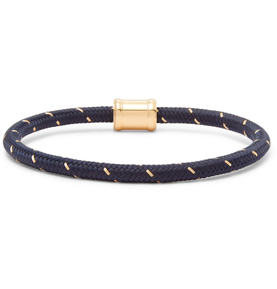 Photo: Miansai - Gold-Tone, Nylon and Steel Rope Bracelet - Navy