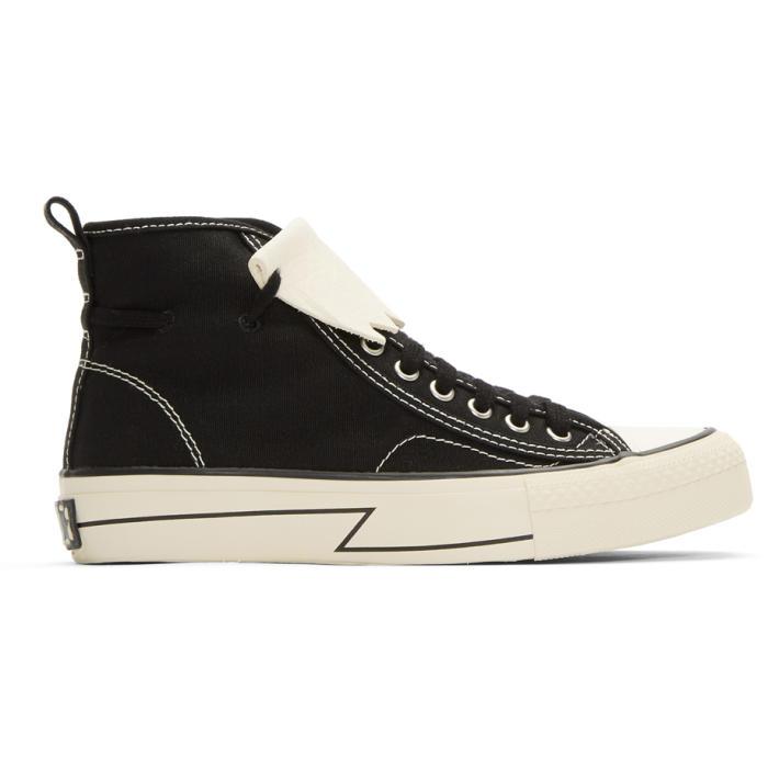 Photo: Visvim Black Skagway Kiltie High-Top Sneakers