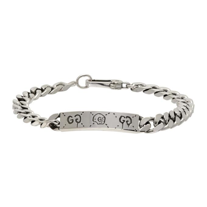 Photo: Gucci Silver Gucci Ghost Bracelet