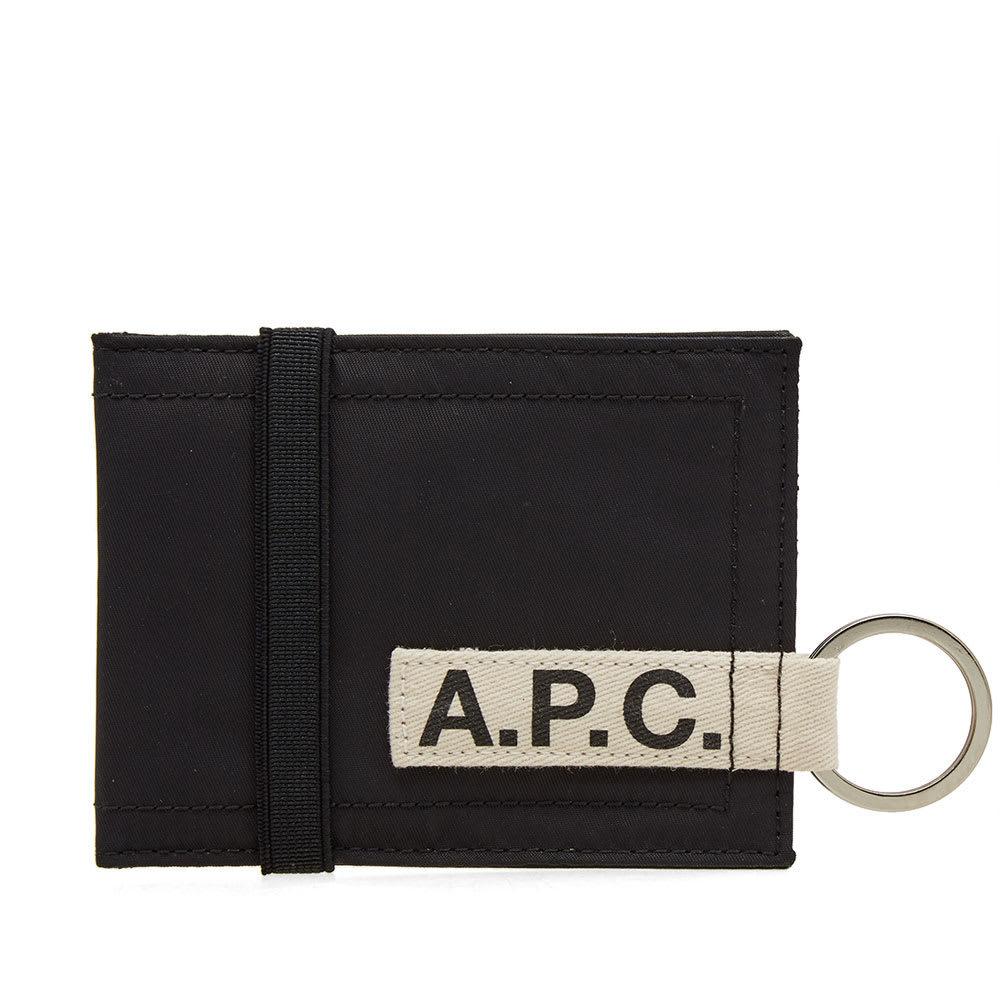 Photo: A.P.C. Lucky Nylon Tape Logo Wallet