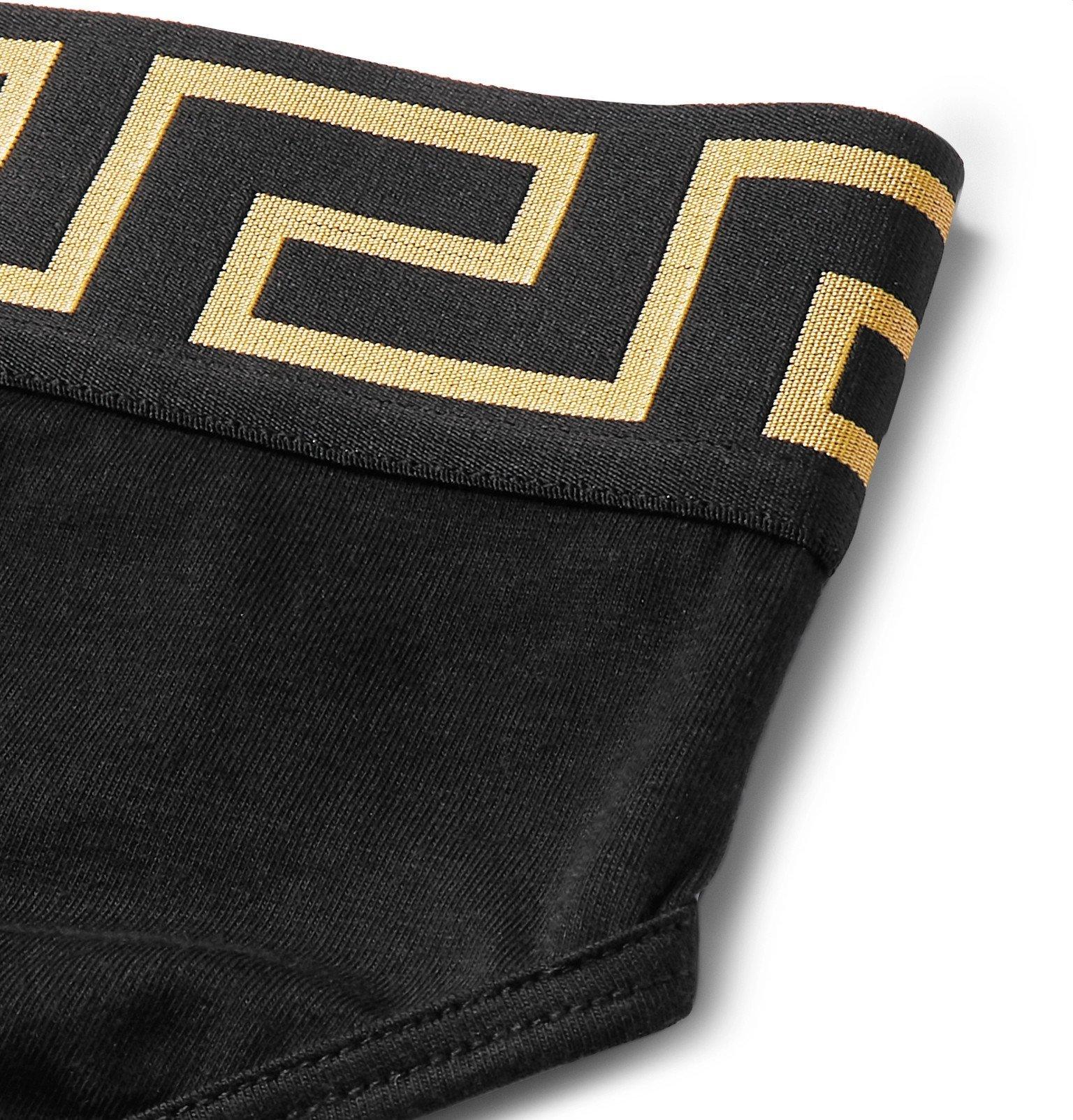 Versace - Stretch-Cotton Briefs - Black