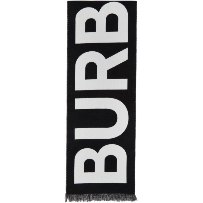 Photo: Burberry Black Logo Wool Scarf