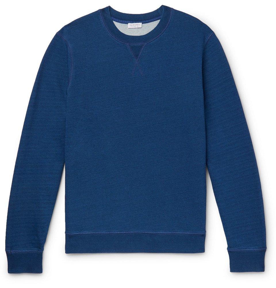 Sunspel - Loopback Cotton-Jersey Sweatshirt - Indigo