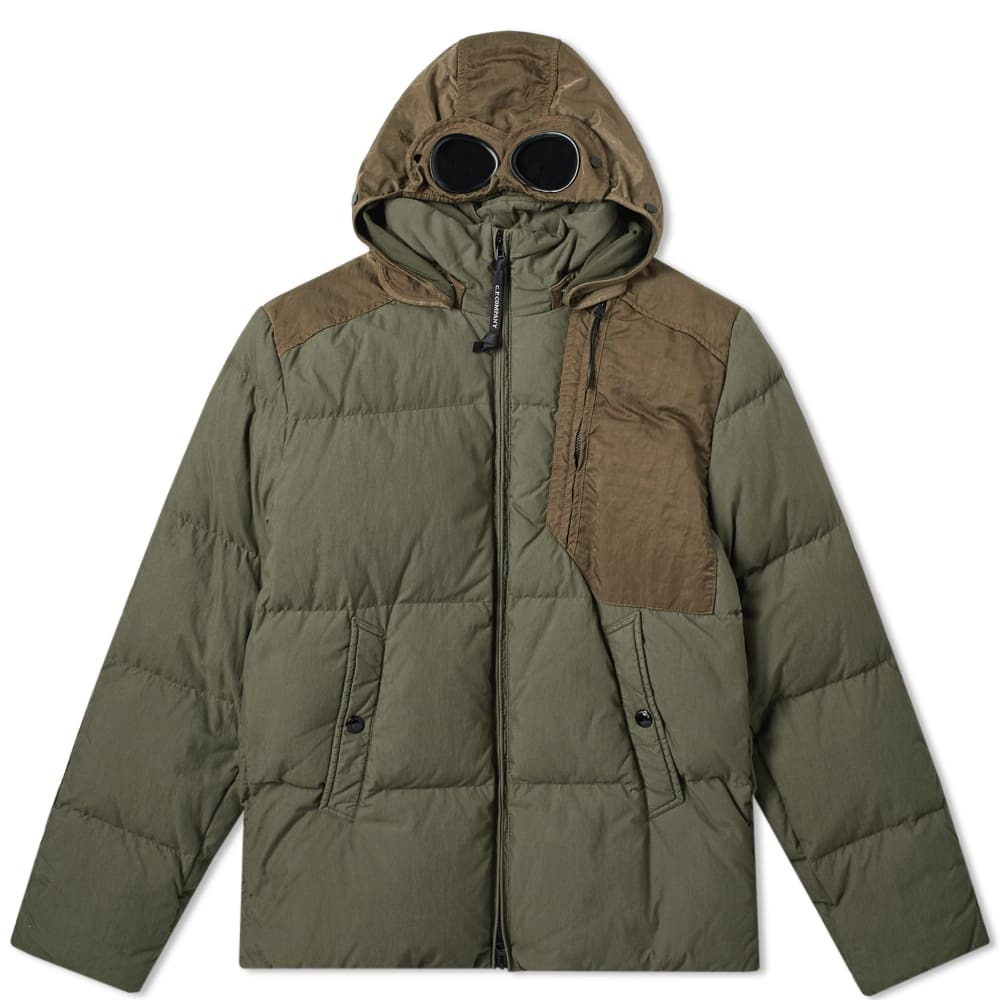 C.P. Company Quilted Down Mille Goggle Jacket