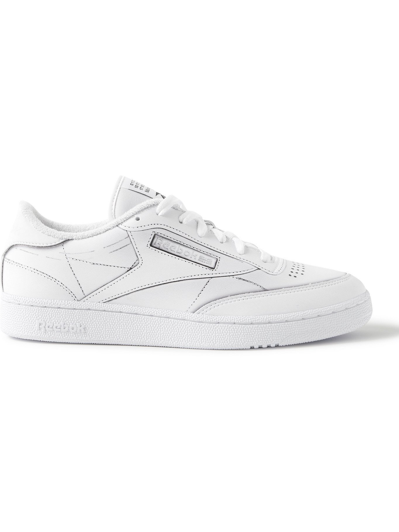 Photo: REEBOK - Maison Margiela Project 0 Club C Printed Leather Sneakers - White - 6