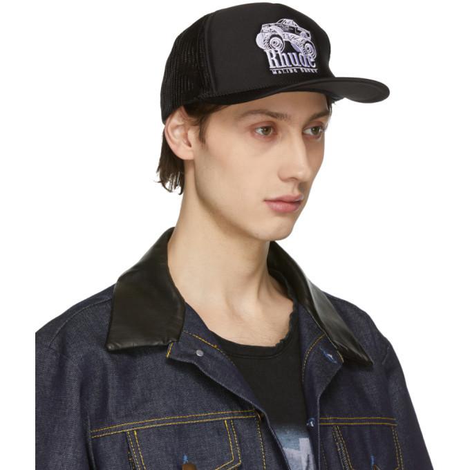 Rhude Black Malibu Derby Trucker Hat Rhude 5fbef60dd9ca