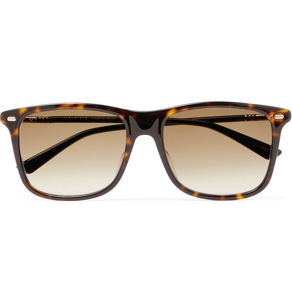 Photo: Gucci - Square-Frame Tortoiseshell Acetate Sunglasses - Tortoiseshell
