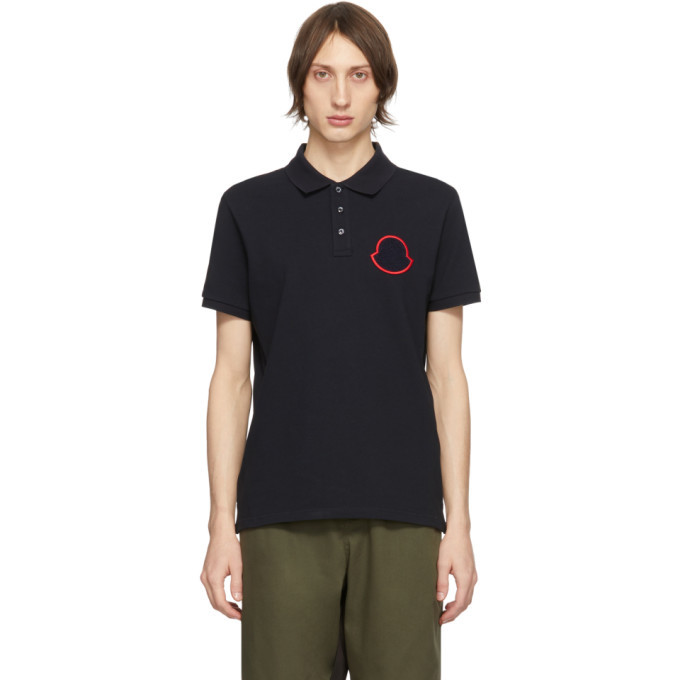 Photo: Moncler Navy Manica Corta Maglia Polo