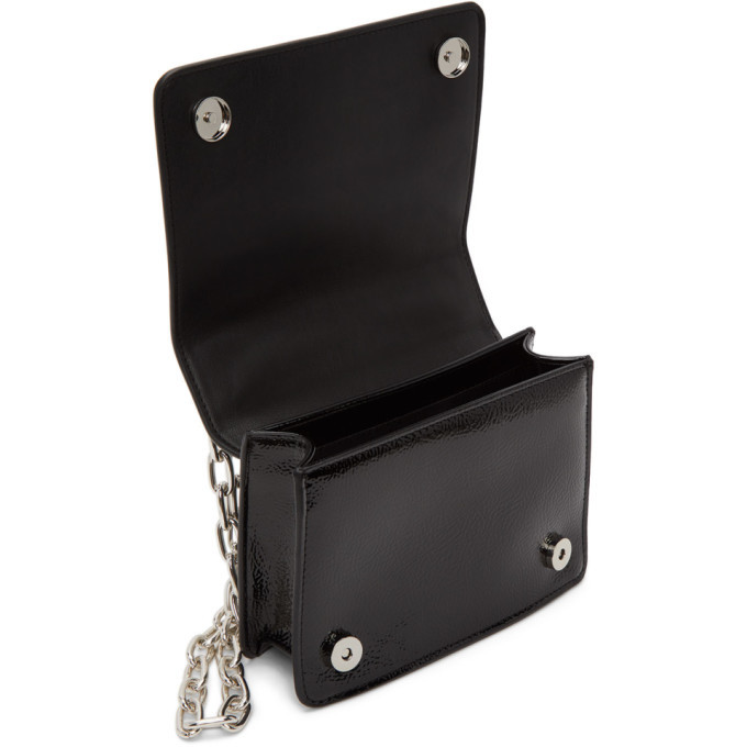 Versace Jeans Couture Black and Pink Faux-Leather Logo Bag