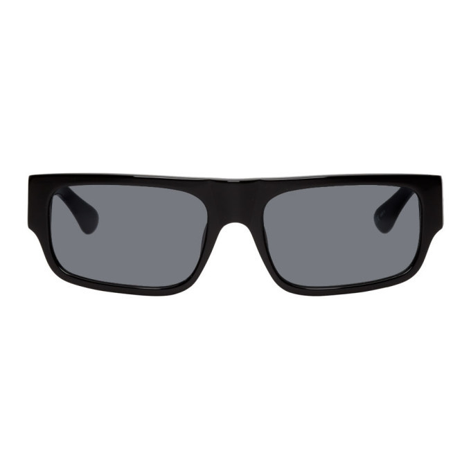 Photo: Dries Van Noten Black Linda Farrow Edition 189 C1 Rectangular Sunglasses