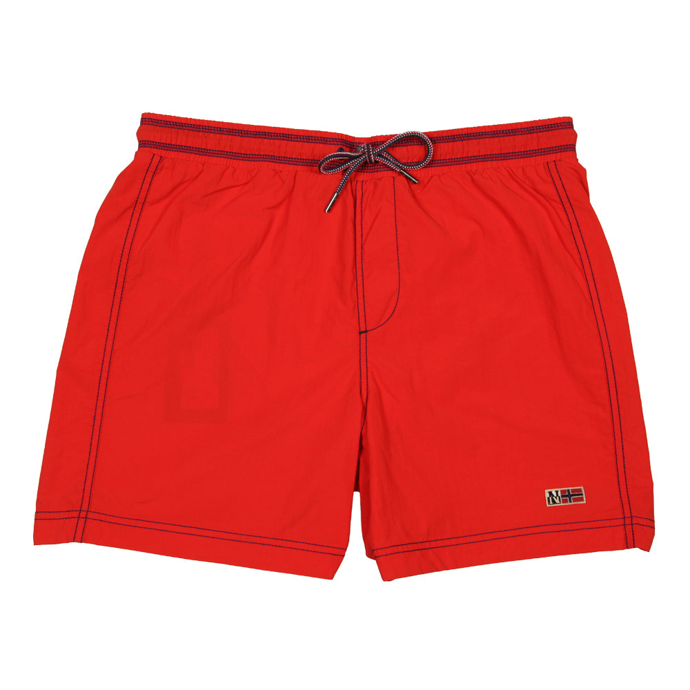 Photo: Villa Solid Swim Shorts - Red