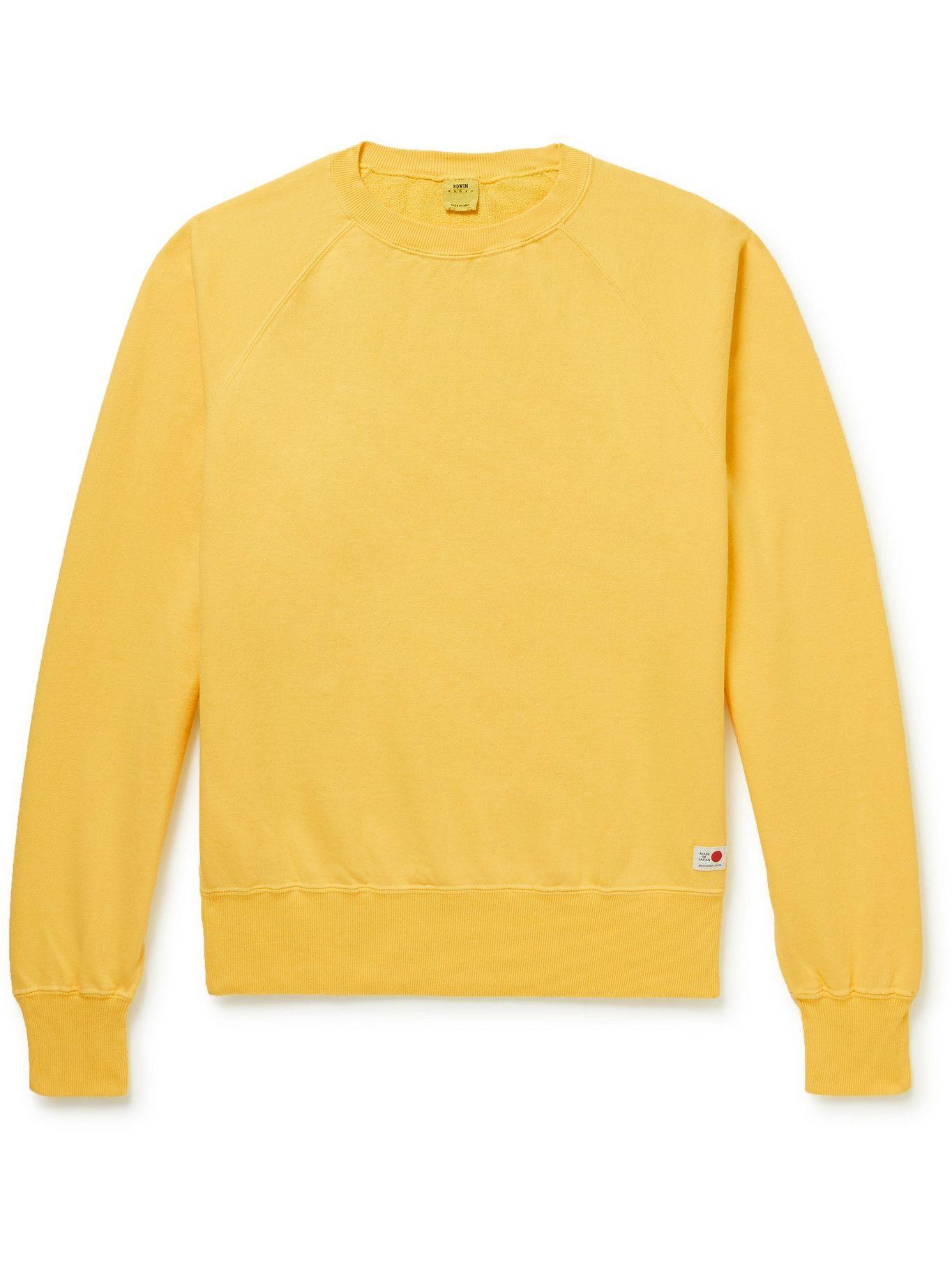 Photo: EDWIN - Cotton-Jersey Sweatshirt - Yellow