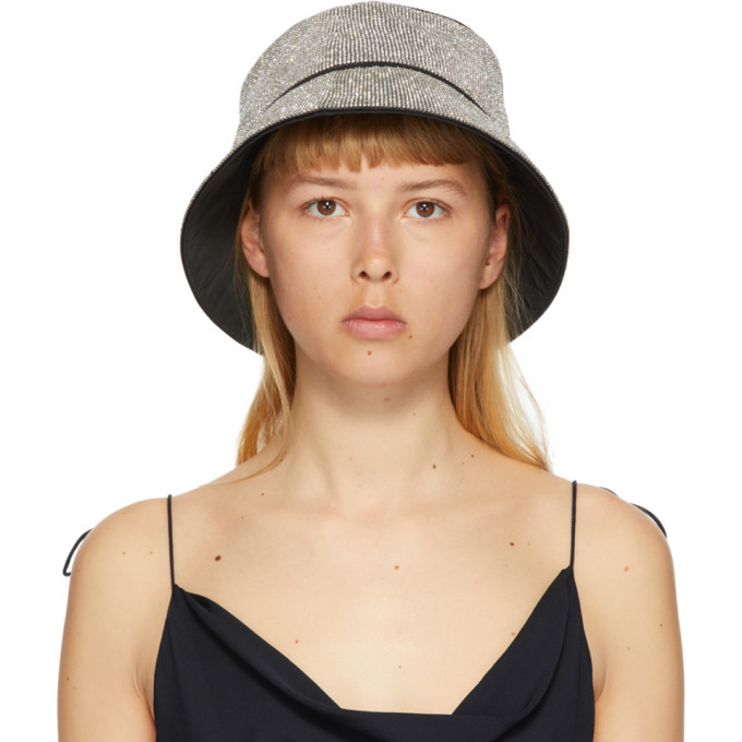 Photo: Kara White Crystal Mesh Bucket Hat