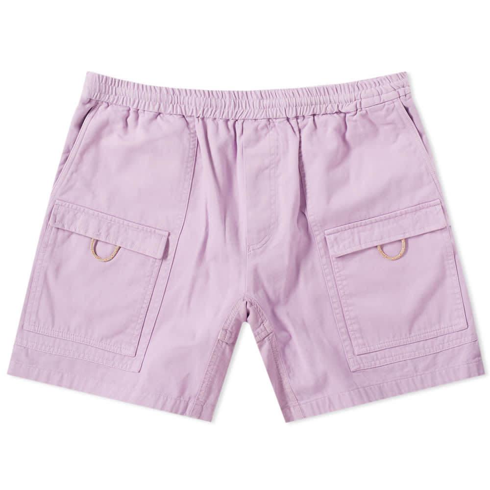 Acne Studios Rosso Garment Dyed Cargo Short