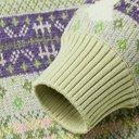 KAPITAL - Intarsia Fair Isle Wool-Blend Sweater - Purple