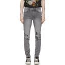 Ksubi Grey Distressed Chitch Jeans