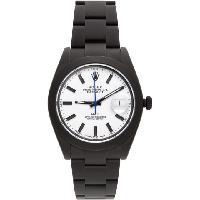 Photo: MAD Paris Black Customized Rolex Datejust 41 Watch