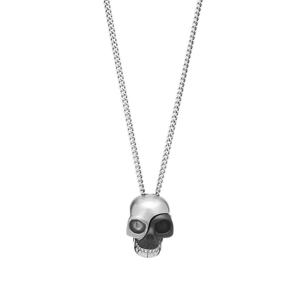 Photo: Alexander McQueen Stacked Fragment Skull Necklace
