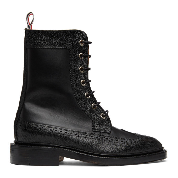 Photo: Thom Browne Black Pebble Mix Longwing Boot