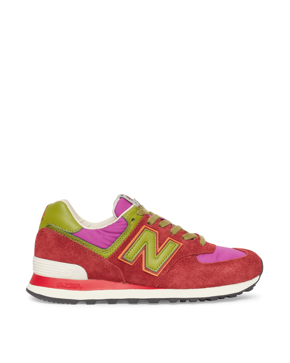 Photo: New Balance Stray Rats 574 Sneakers Burgundy/Purple