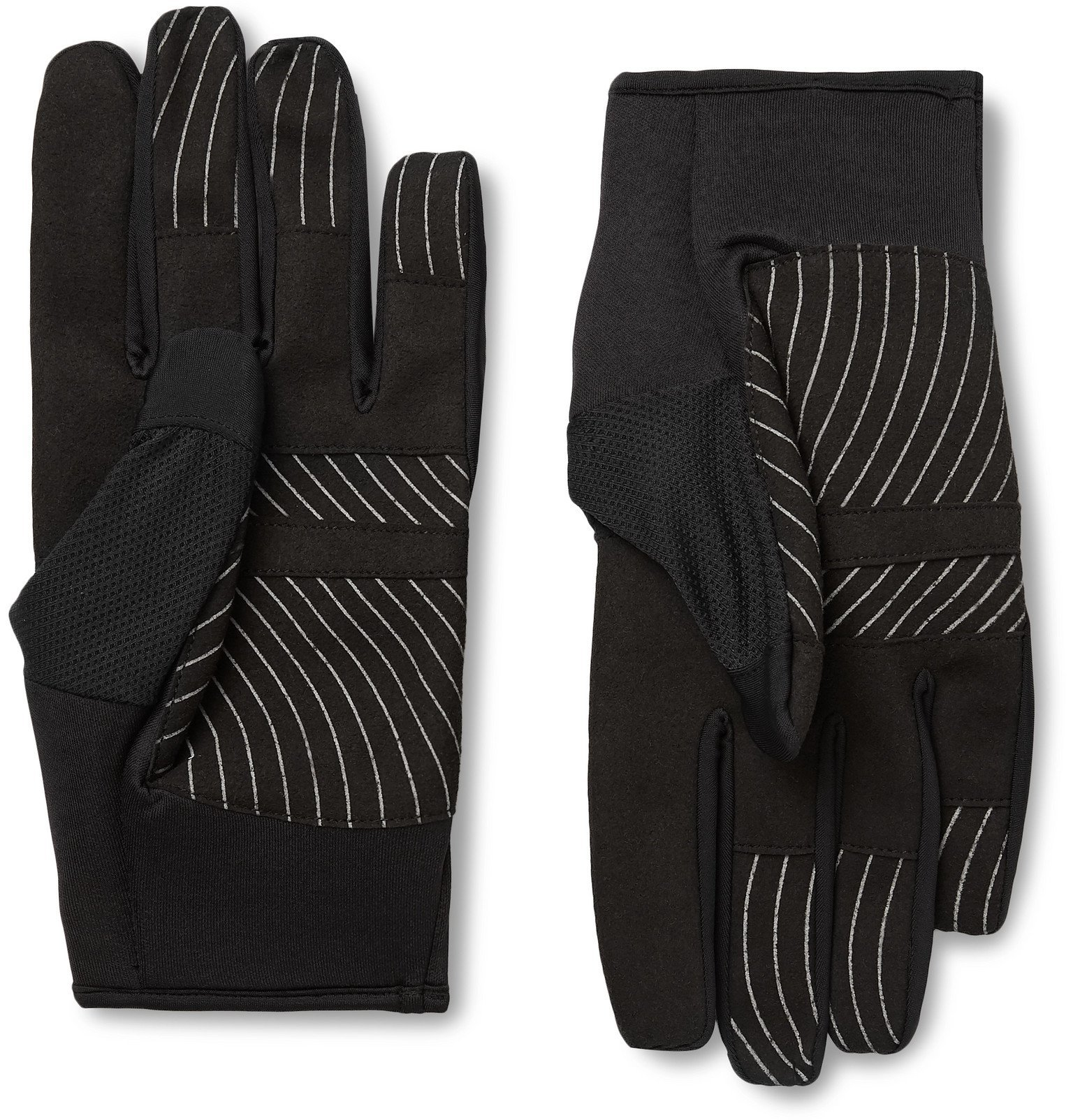 Photo: Off-White - Active Stretch-Jersey and Mesh Gloves - Black