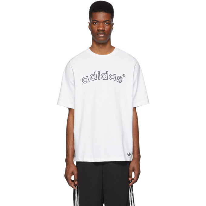 adidas Originals White Archive Logo T-Shirt